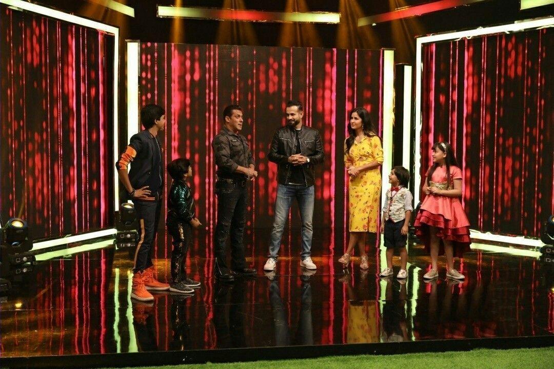 Salman Khan and Katrina Kaif during a programme