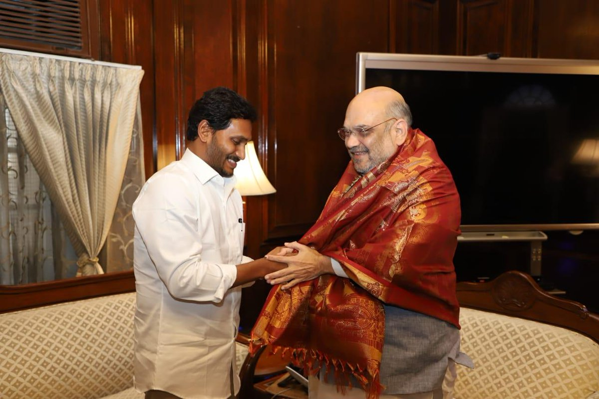 Andhra CM YS Jaganmohan Reddy Met Union Home Minister Amit Shan